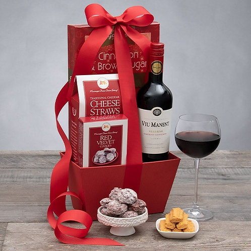 Red Wine and Gourmet Favorites Gift