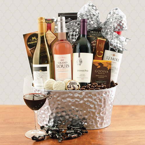 A Wine Lovers Collection Gift Basket