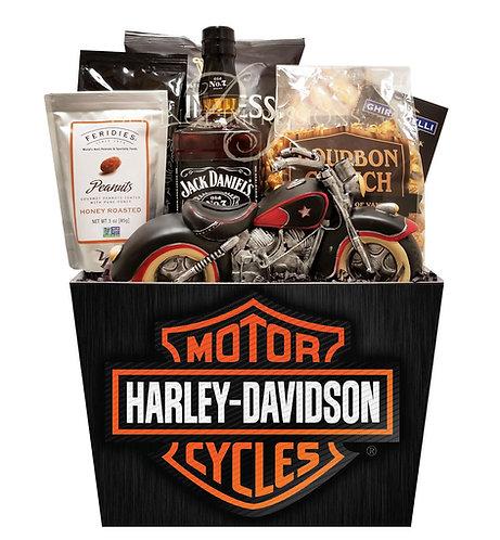 Classic Harley Davidson Gift Basket with Jack Daniels