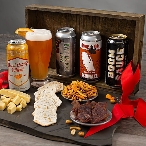 The Ultimate Beer and Snacks Gift Box
