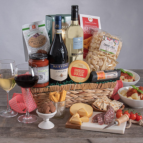 Italian Wine Duo Gourmet Gift Basket