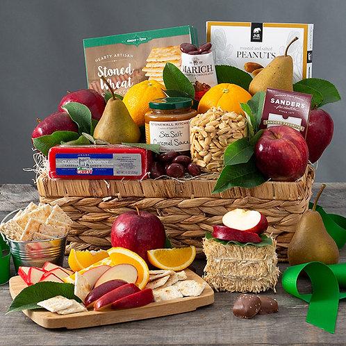 Bountiful Bounty Fruit and Snacks Gift Basket