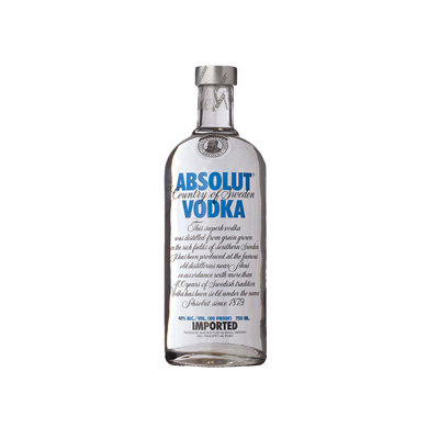Absolut Vodka - Full Size Bottle