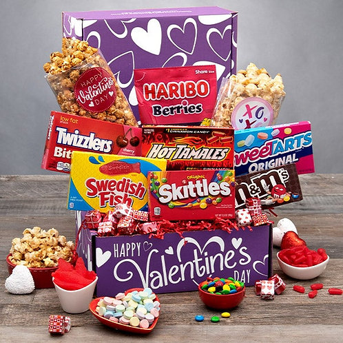 Send a Valentines Day Hug Gift Box - Purple