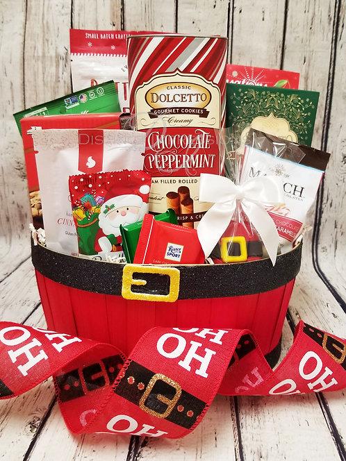 HO HO HO Christmas Treats Gift Baskets