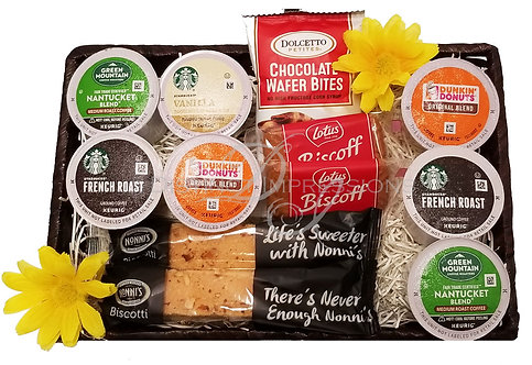 K-Cup Coffee Surprise Gift Basket - Keurig Coffee K-Cups