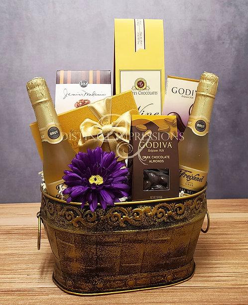 Freixenet Sparkling Wine and Godiva Chocolate Gift