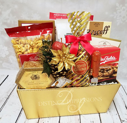 Happy Holidays Gourmet Gift Basket