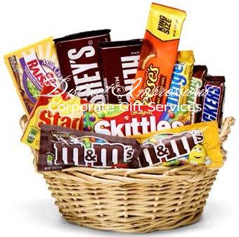 Las Vegas Candy Gift Basket ALL Chocolates - Hotel Amenity Gift