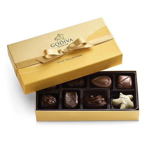 Godiva® Chocolates 8 Piece Gold Box (Add on item NOT Sold Separately)
