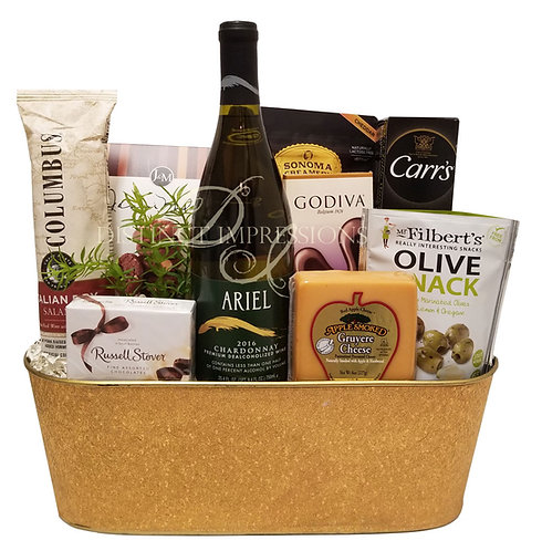 Ariel Non-Alcoholic Chardonnay Wine Beverage and Gourmet Foods - Alcohol Free Gift - Alcohol Free Gift Gift