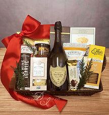 Classic Dom Perignon Gourmet Gift Basket
