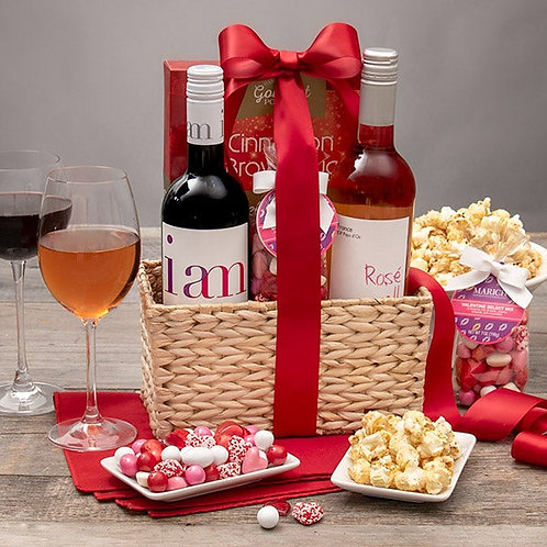 Valentines Day Wine Duo Gift Basket