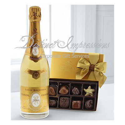 Roederer Cristal Champagne and Godiva® Gift