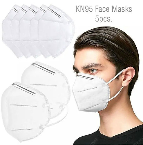 5pc KN95 Face Masks - Disposable Virus Protection