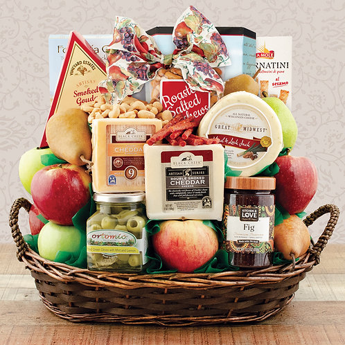 Fruit & Cheese Spectacular Gift Basket