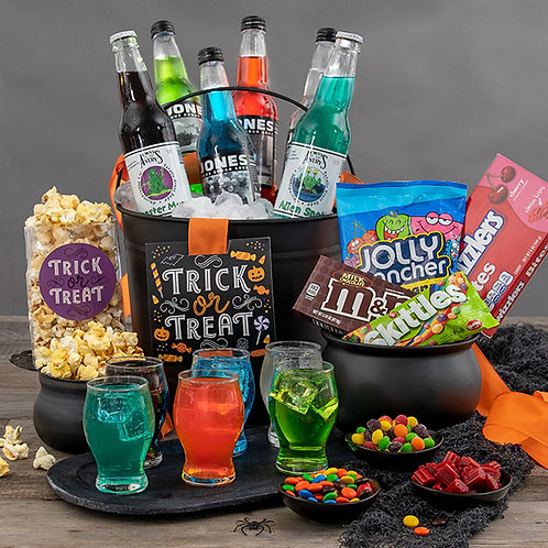 Halloween Toxic Slime and Candy Gift Basket