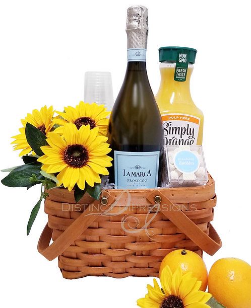 Sunday Morning Brunch - Mimosa Gift Basket