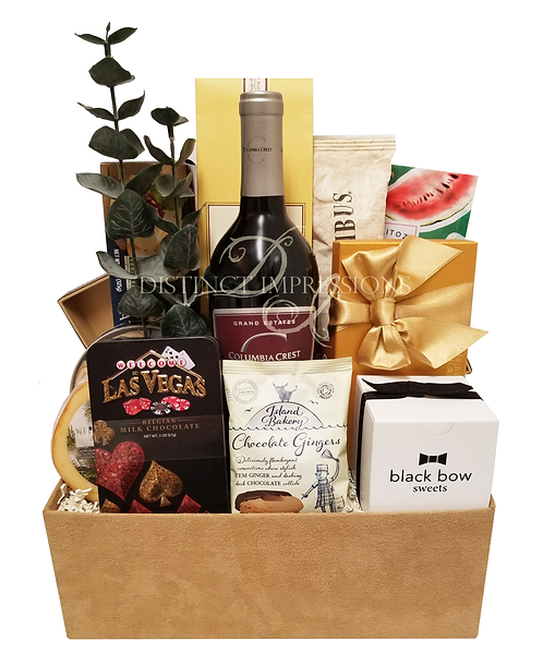 Welcome to Vegas Gourmet Wine Gift Basket