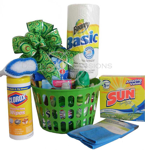 Moving Day Cleaning Supplies Gift Basket