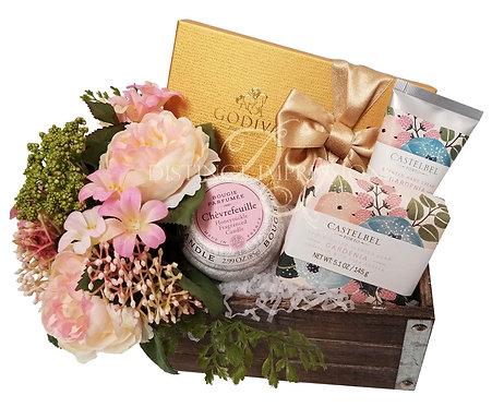 Spring Blossoms Pamper Gift Basket