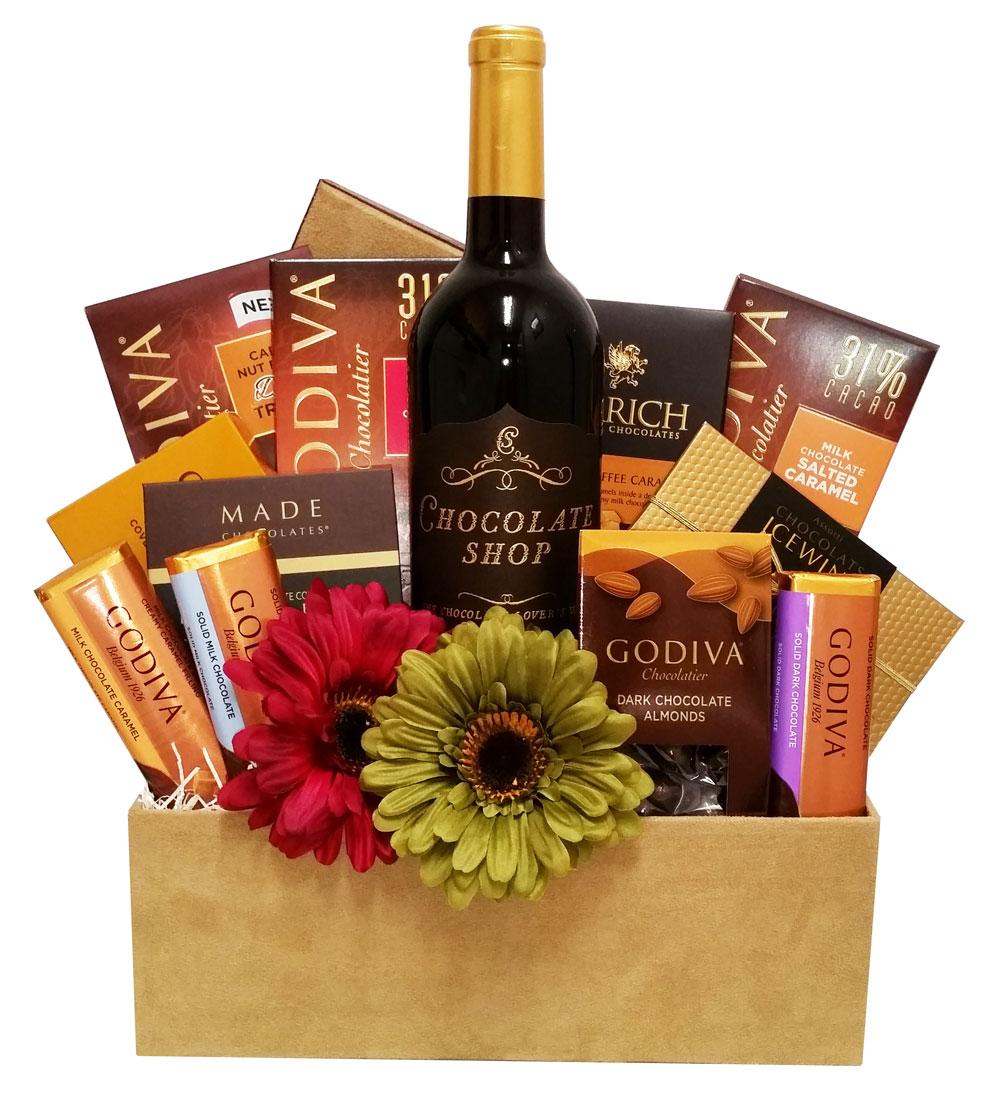 Custom Wine and Godiva Gift