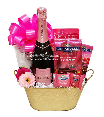 Pretty in Pink - Champagne Gift Basket