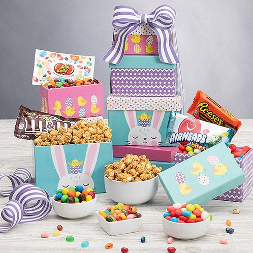 Happy Easter Gift Tower of Treats