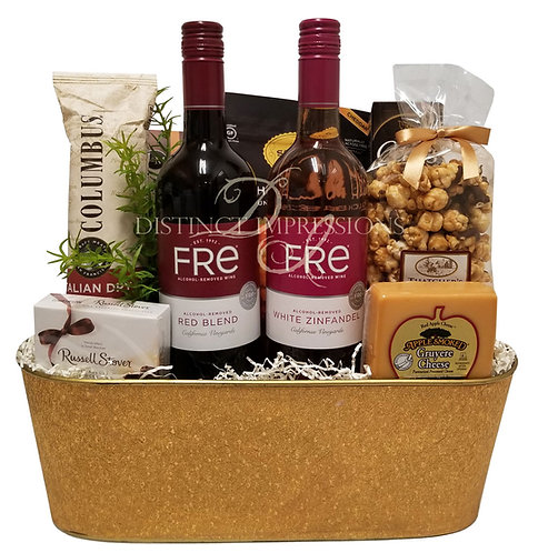 Non-Alcoholic Wine Gift - Red Blend and White Zinfandel - Alcohol Free Gift