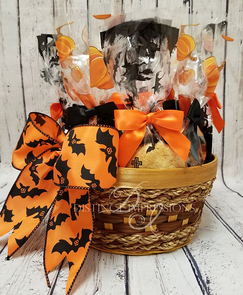 Halloween Cookie Basket Office Gift - Small