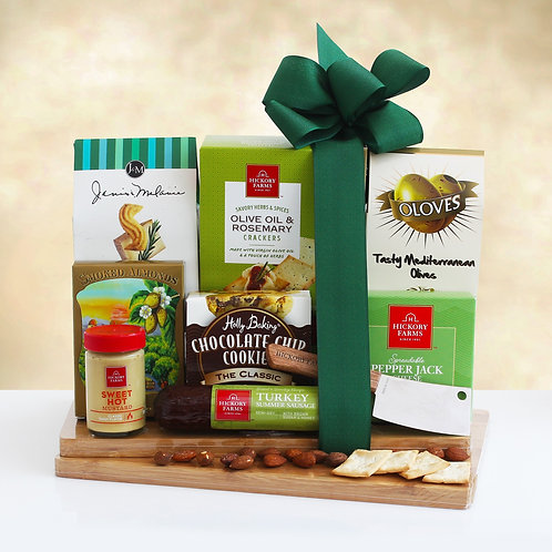 The Complete Gourmet Cheeseboard Gift Featuring Hickory Farms