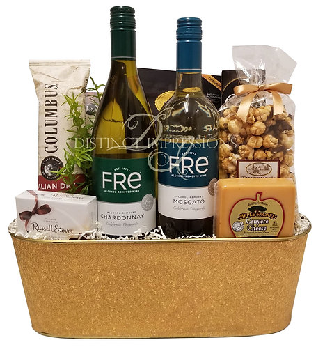 Non-Alcoholic Wine Gift - Chardonnay and Moscato - Alcohol Free Gift