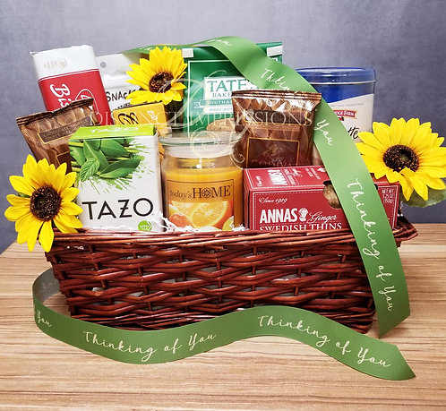 Our Condolences Sympathy Gift Basket