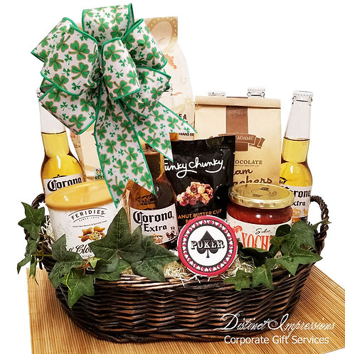 St. Patrick's Day Corona Beer Gift Basket