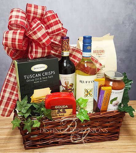 Italian Tuscan Feast Wine Duo Gourmet Gift Basket