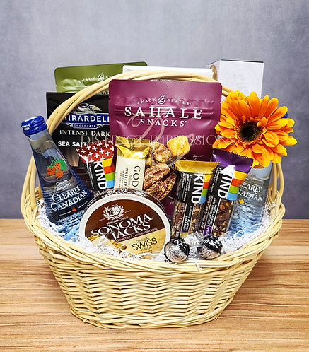 Fit and Healthy Snacks Gift Basket