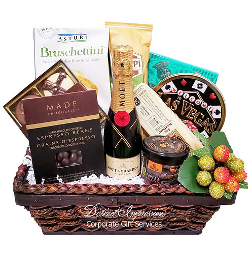 Welcome to Vegas Champagne Gourmet Gift Basket