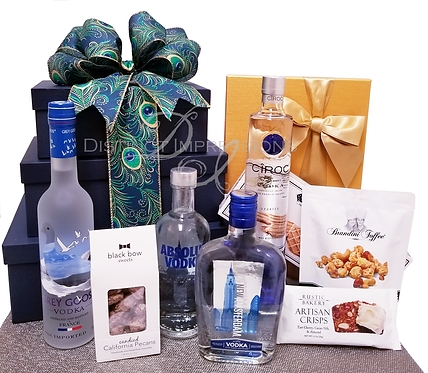 Crystal Blue Persuasion Vodka Gift Tower
