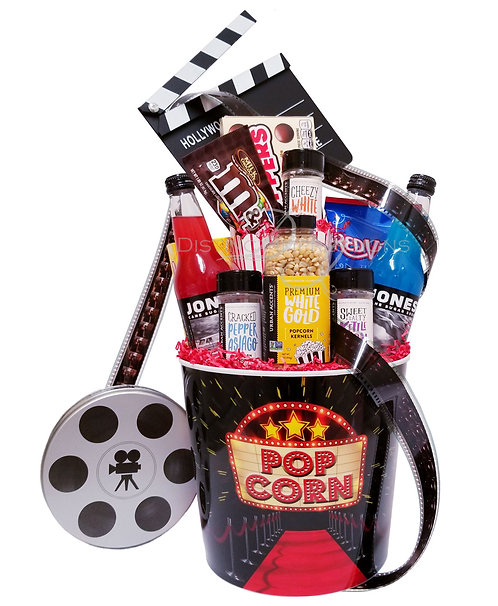 Blockbuster Movie Night Popcorn and Candy Bucket