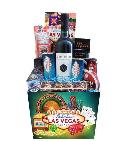 Lucky Bet Las Vegas Casino Wine Gift Box