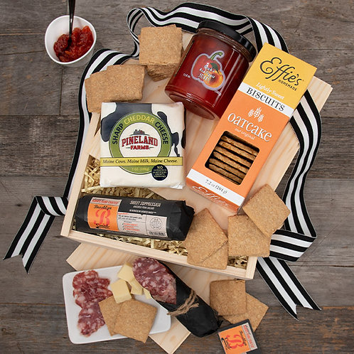 Charcuterie Lovers' Meat and Cheese Gift Crate