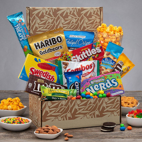 Junk Food Junkie Gift Box of Snacks