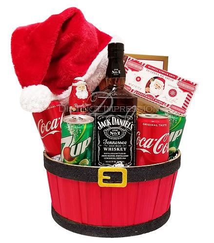 Holiday Spirits Gift Basket-With Jack Daniels Whiskey