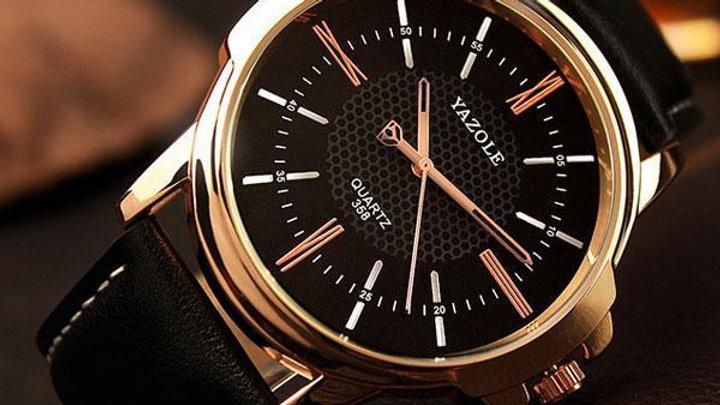 Gold Quartz Watch