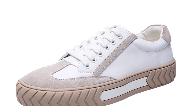 YIGER New Men Spring Casual Leisure Cow Split Leather White Shoes Breathable