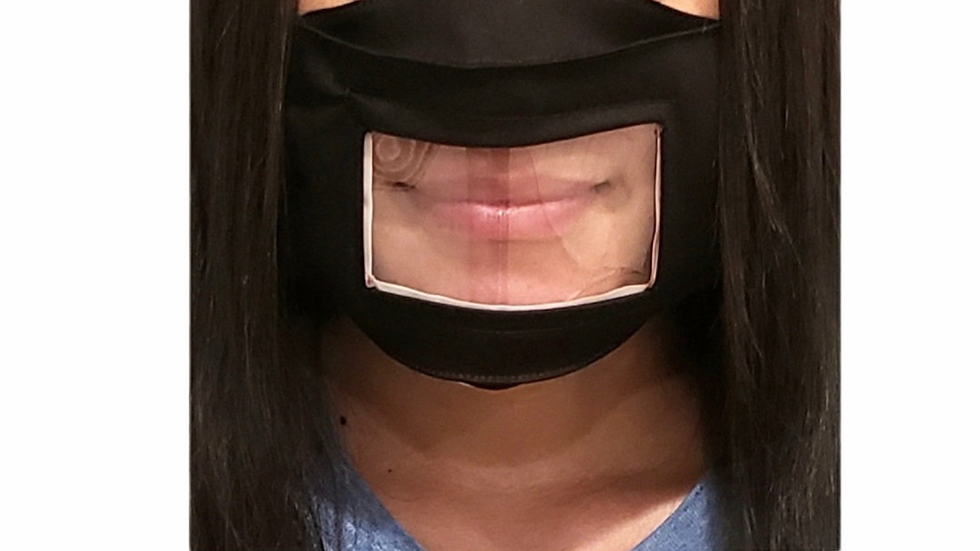 Anti-Fog Adult Face Mask. 4 Reading Lips & Expressions