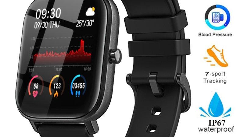 P8 Smart Watch  Waterproof Fitness Tracker Sport Heart Rate Monitor Full Touch