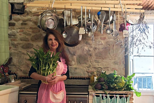Martine Greslon-Collins - Self taught chef & owner of The Orangery Retreat