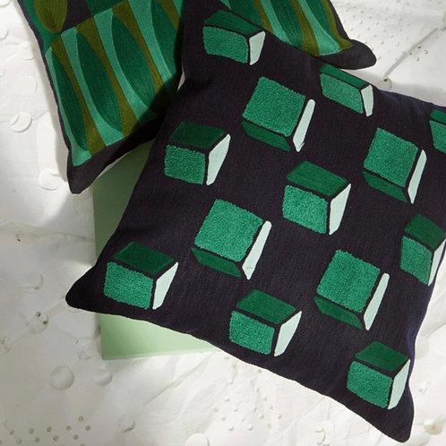 """Coussin """"Green Cube"""" - Bensimon"""