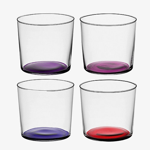 """Set de 4 verres colorés rouge """"Coro"""" - LSA International"""